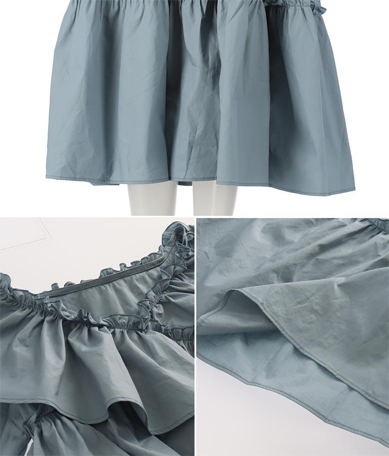 クロスフリルワンピース(ワンピース・ドレス/ロングワンピ) | CHILLE