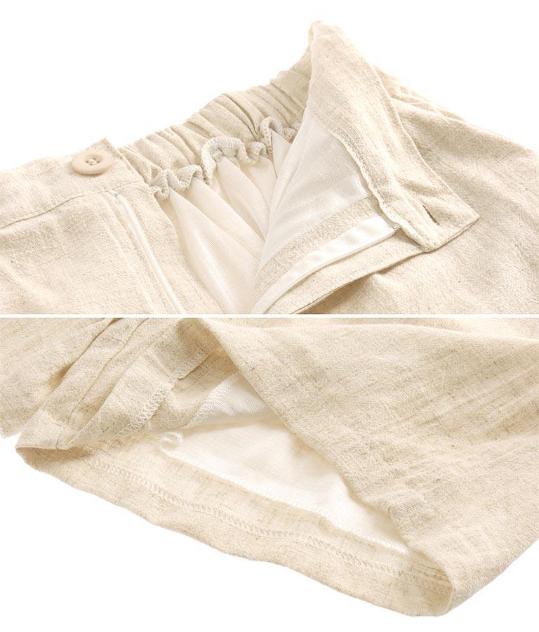 リネンタッチタックショートパンツ(ボトムス・パンツ /ショートパンツ) | anap mimpi