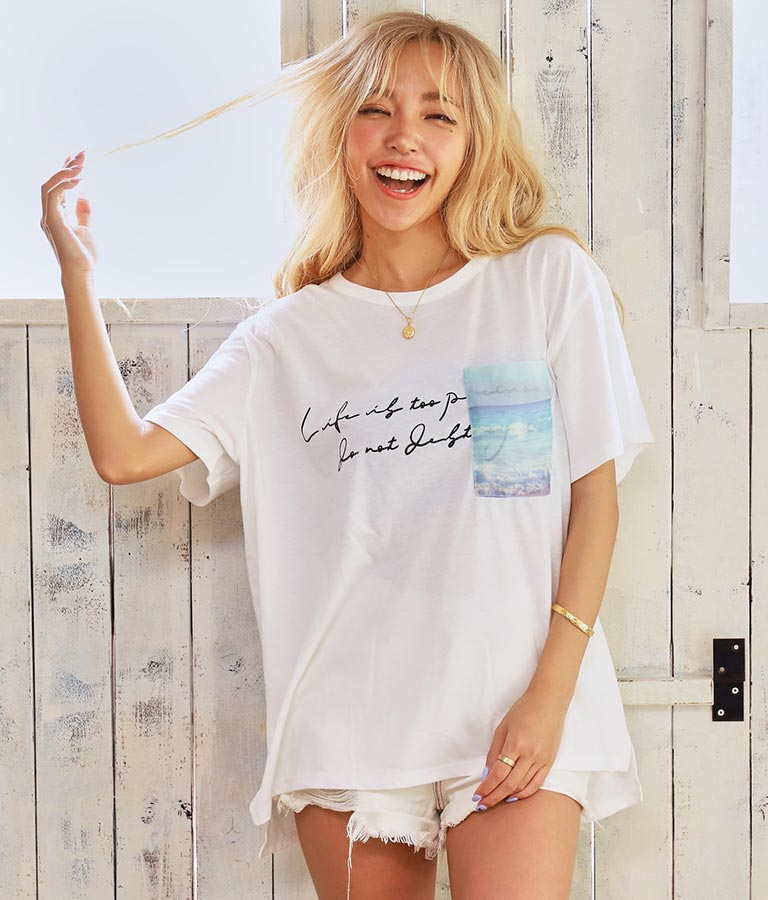 転写プリントポケットTシャツ