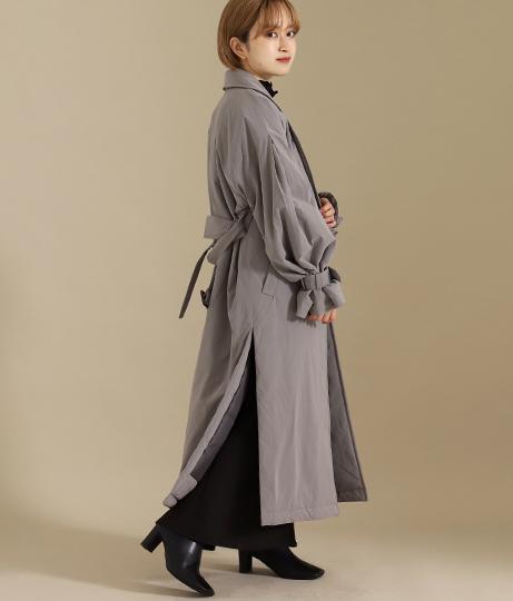 【低身長向けサイズ】中綿テーラードロングコート