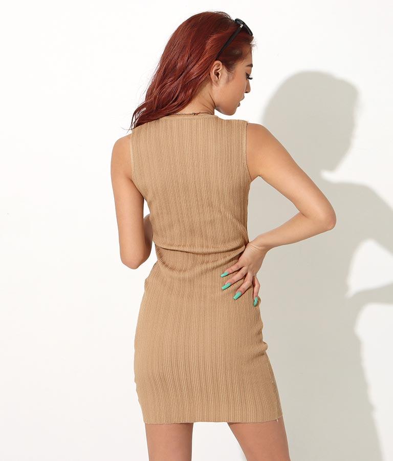 スクエアネックタイトリブワンピース(ワンピース・ドレス/ロングワンピ・ミディアムワンピ)   anap Latina