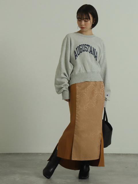 【低身長向けサイズ】ジャカード切替美脚マーメイドスカート