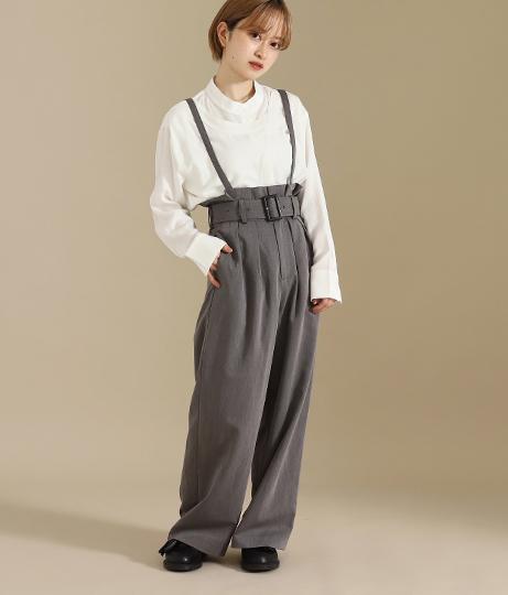 【低身長向けサイズ】レイヤードバンドカラーシャツ(トップス/シャツ・ブラウス) | AULI