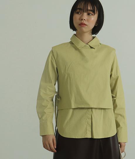 【低身長向けサイズ】2wayシャツトップス(トップス/シャツ・ブラウス) | AULI