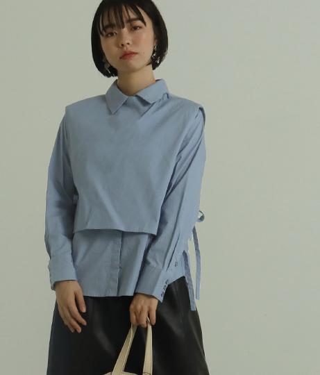 【低身長向けサイズ】2wayシャツトップス