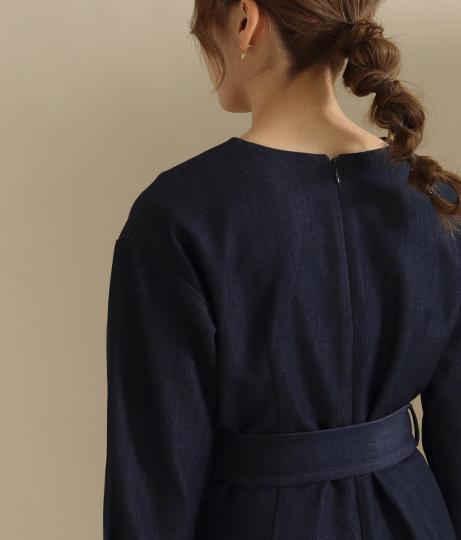 【低身長向けサイズ】デニムワイドオールインワン(ワンピース・ドレス/サロペット/オールインワン) | AULI