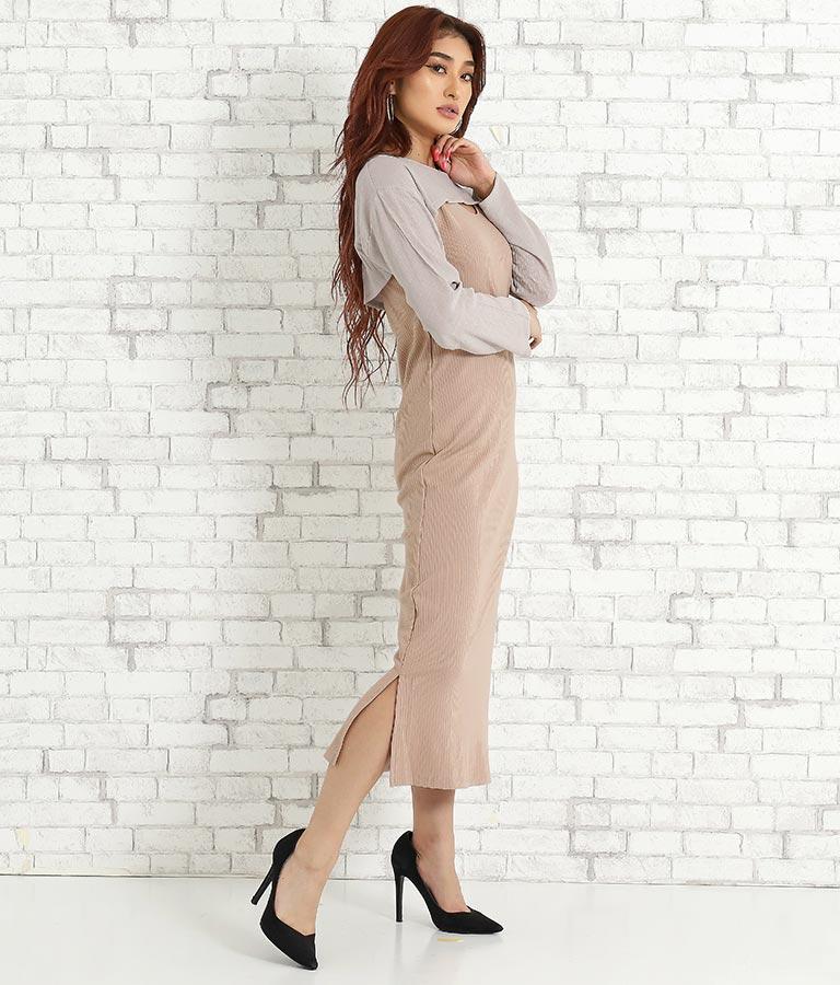 ショート楊柳トップス付きリブタイトワンピース(ワンピース・ドレス/ロングワンピ)   anap Latina