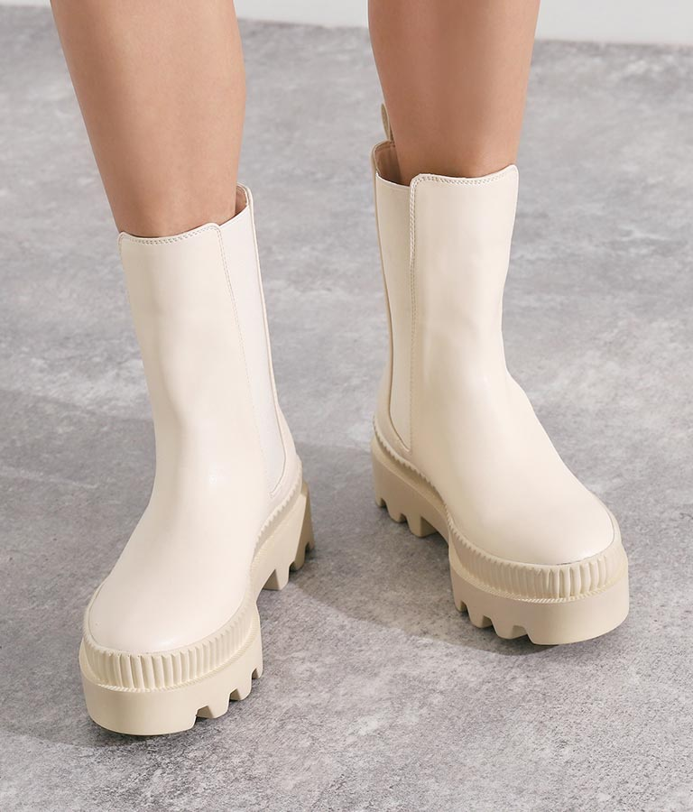 トラックソールサイドゴアアンクルブーツ(シューズ・靴/厚底ブーツ)   Settimissimo