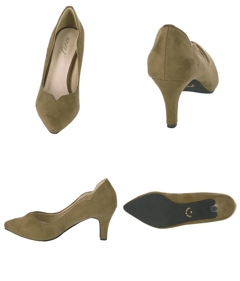 ハートカットスウェードパンプス(シューズ・靴/パンプス) | CHILLE