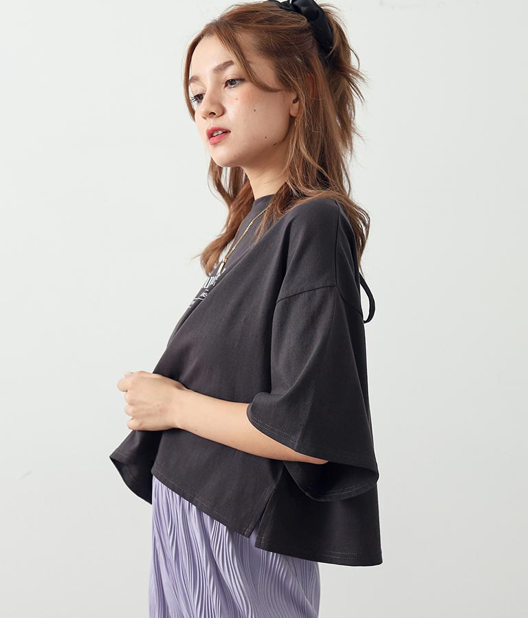 バックレースアップショートTシャツ(トップス/Tシャツ) | CHILLE