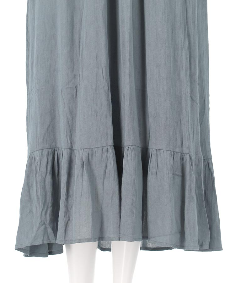 ギャザープチハイネックフレアワンピース(ワンピース・ドレス/ロングワンピ) | CHILLE
