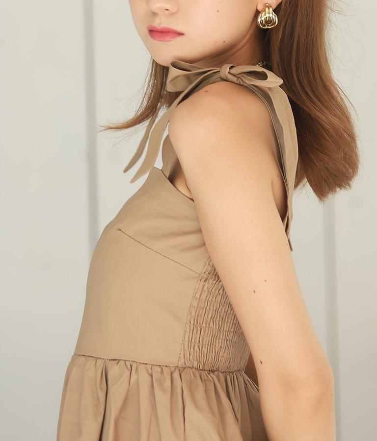 肩リボンティアードワンピース(ワンピース・ドレス/ロングワンピ)   CHILLE
