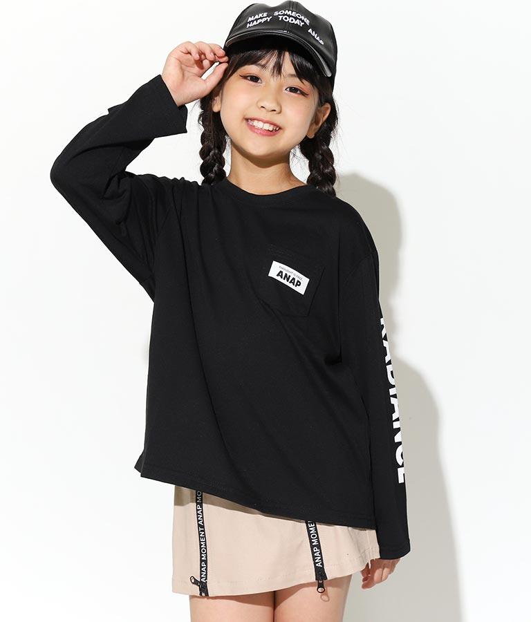 抗菌防臭袖ロゴビッグロンT(トップス/Tシャツ) | ANAP KIDS