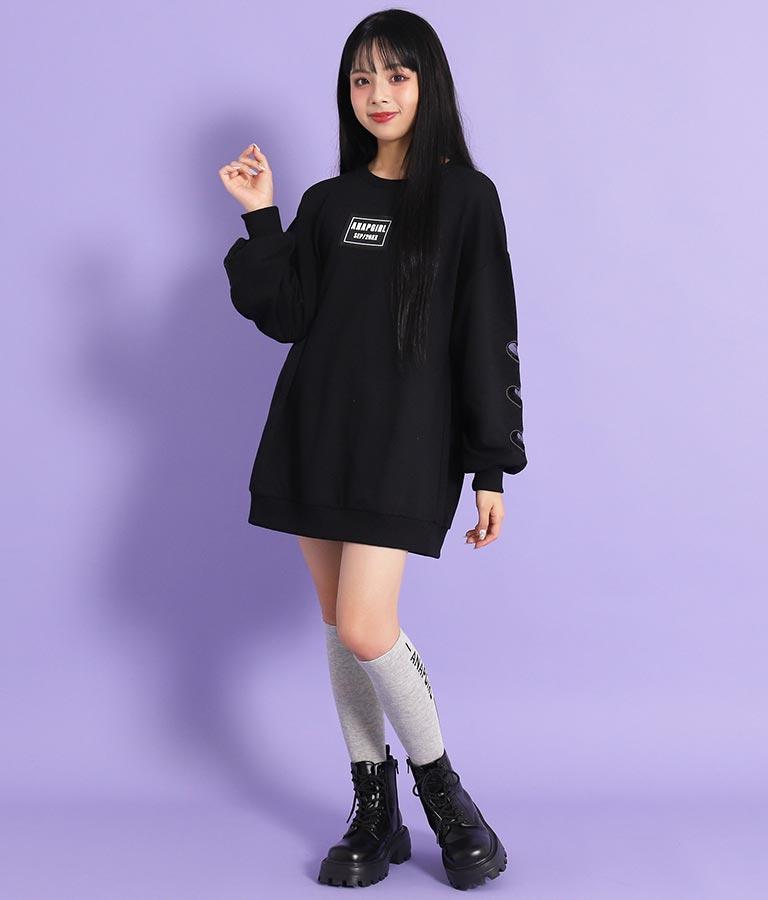 ラインロゴハイソックス(ファッション雑貨/ソックス・靴下) | ANAP GiRL