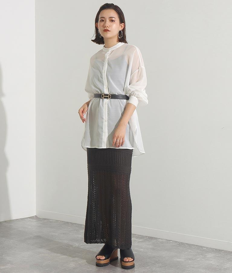 本革ビット付きナローベルト(ファッション雑貨/ベルト) | Settimissimo