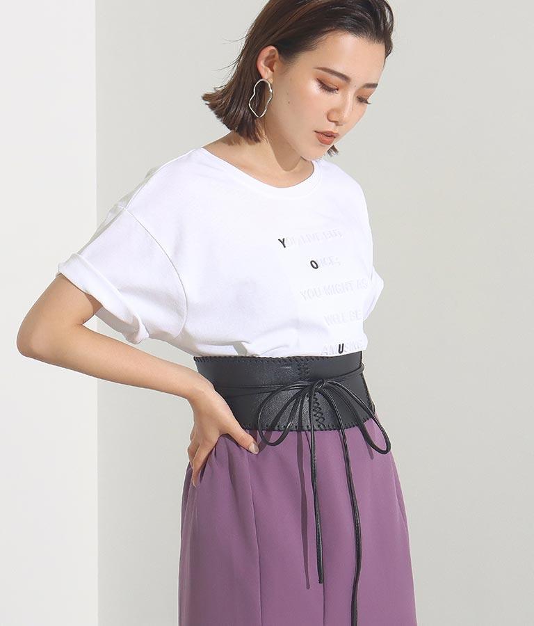 ステッチデザインリボンウエストベルト(ファッション雑貨/ベルト)   Settimissimo