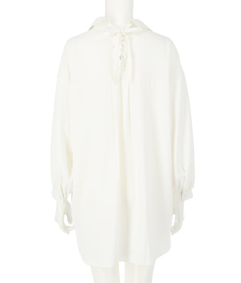 バックレースアップビッグシルエットシャツ(トップス/シャツ・ブラウス) | anap Latina