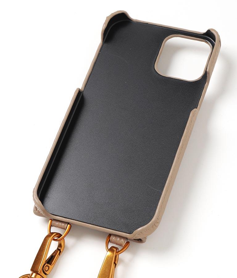 本革CHILLEロゴストラップ付iPhone12ケース(Others/スマホケース) | CHILLE
