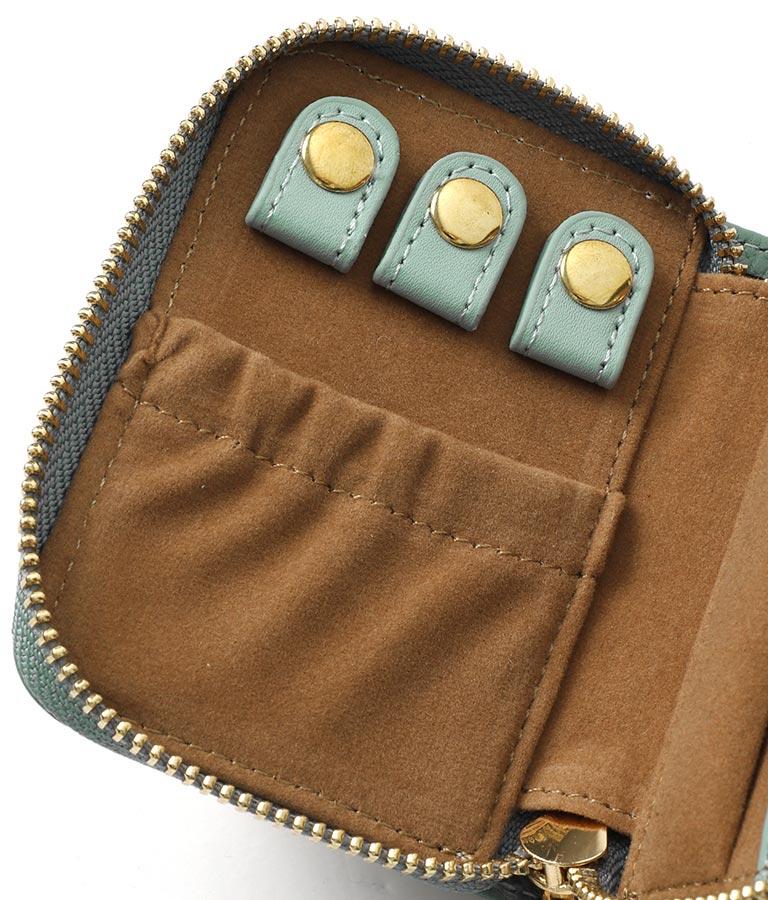 本革CHILLEロゴアクセサリーケース(ファッション雑貨/財布 ・長財布・二つ折り(折りたたみ財布) )   CHILLE