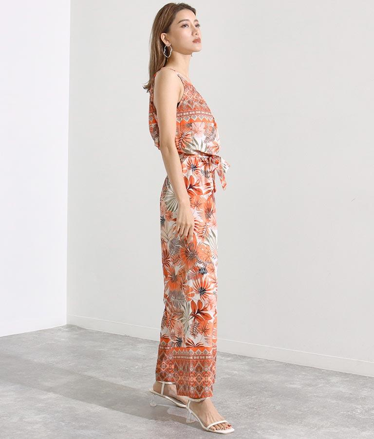 ボタニカルプリントオールインワン(ワンピース・ドレス/サロペット/オールインワン) | Settimissimo