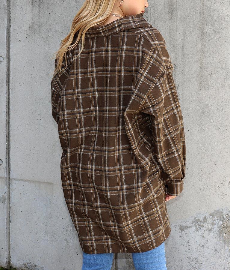 チェックオーバーサイズシャツ(トップス/シャツ・ブラウス) | ANAP