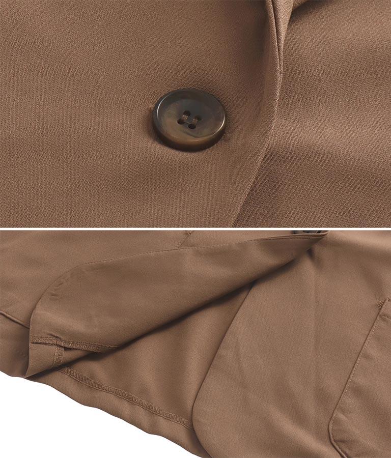 ジャケットワイドストレートパンツセットアップ(ボトムス・パンツ /ロングパンツ・ジャケット・ブルゾン) | Settimissimo