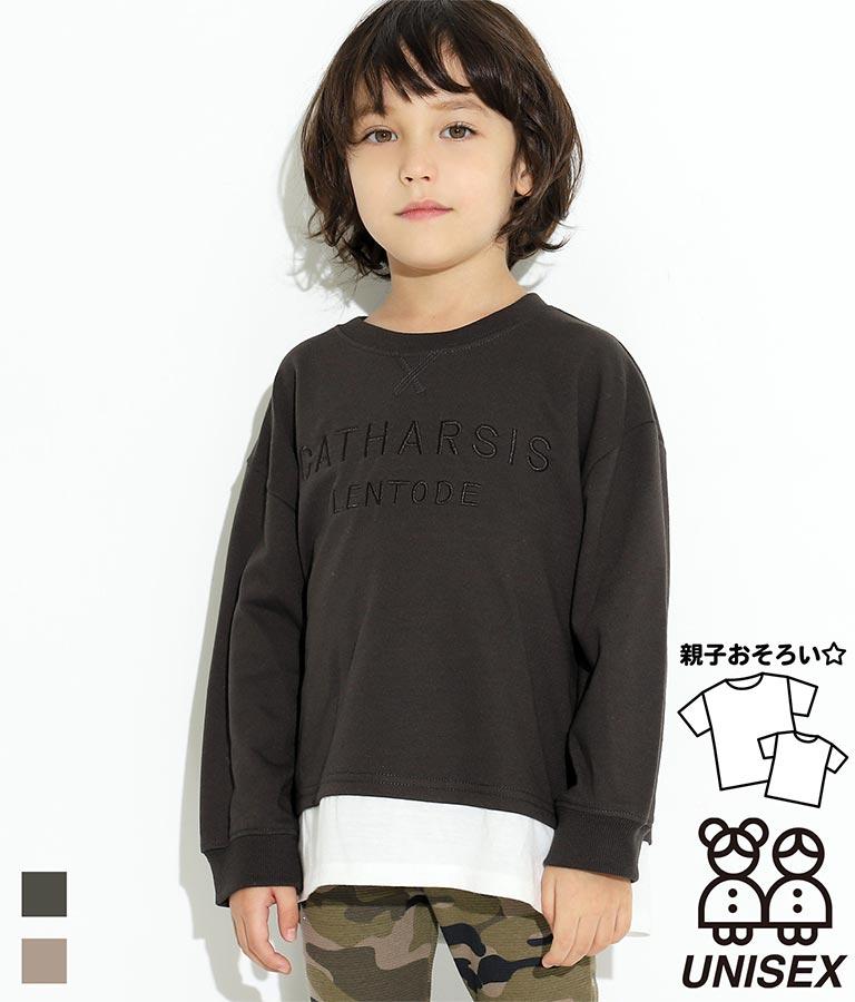 レイヤード風ミニ裏毛トップス(トップス/カットソー )   ANAP KIDS