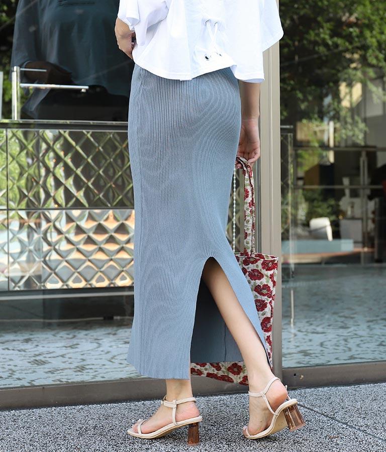 リブニットロングタイトスカート(ボトムス・パンツ /スカート) | CHILLE