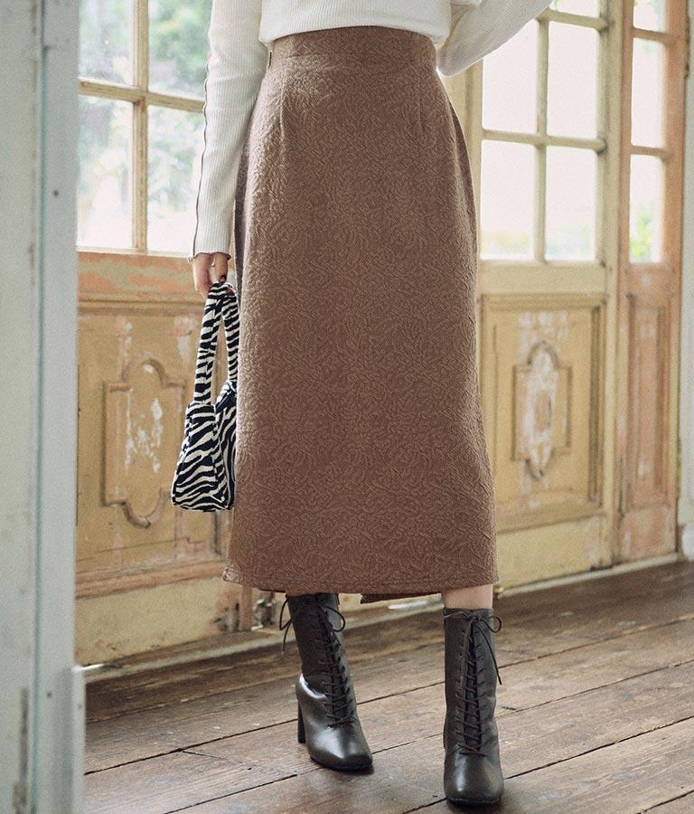 ストレッチジャガードタイトスカート