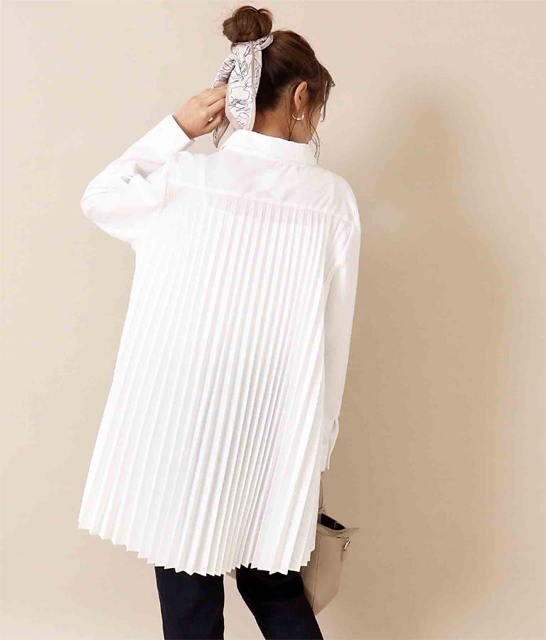 バックプリーツチュニックシャツ(トップス/シャツ・ブラウス)   CHILLE