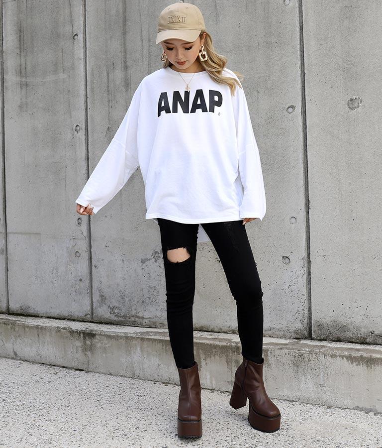 ANAPロゴプリントミニ裏毛トップス(トップス/Tシャツ・カットソー )   ANAP