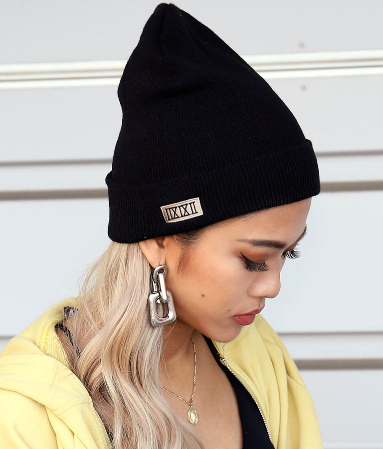 ボックスロゴ刺繍ビーニー(ファッション雑貨/ハット・キャップ・ニット帽 ・キャスケット・ベレー帽) | ANAP