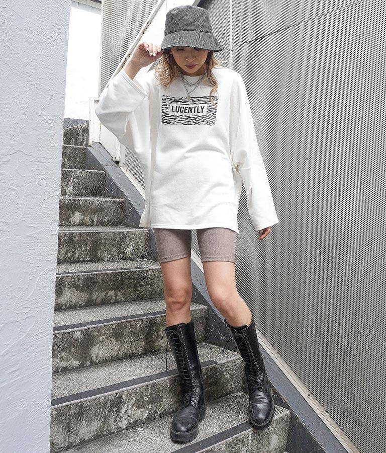 アニマルプリント裏毛トップス(トップス/Tシャツ) | ANAP