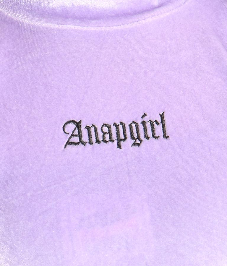 ベロアミニネックショートトップス(トップス)   ANAP GiRL
