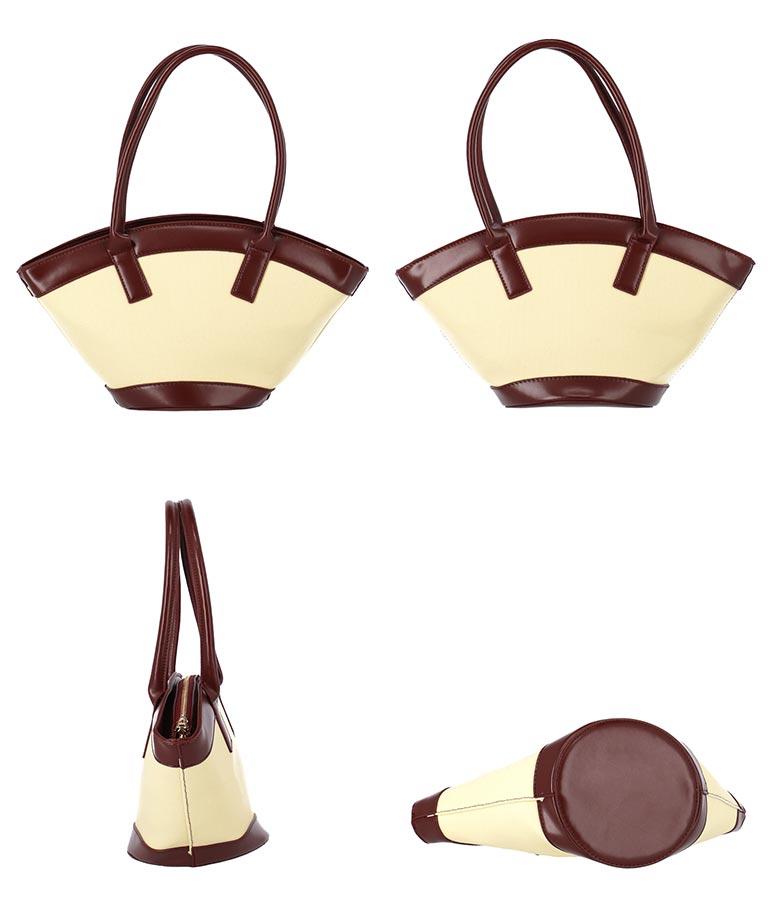 バイカラーオーバルデザインショルダーバッグ(バッグ・鞄・小物/ショルダーバッグ)   Settimissimo