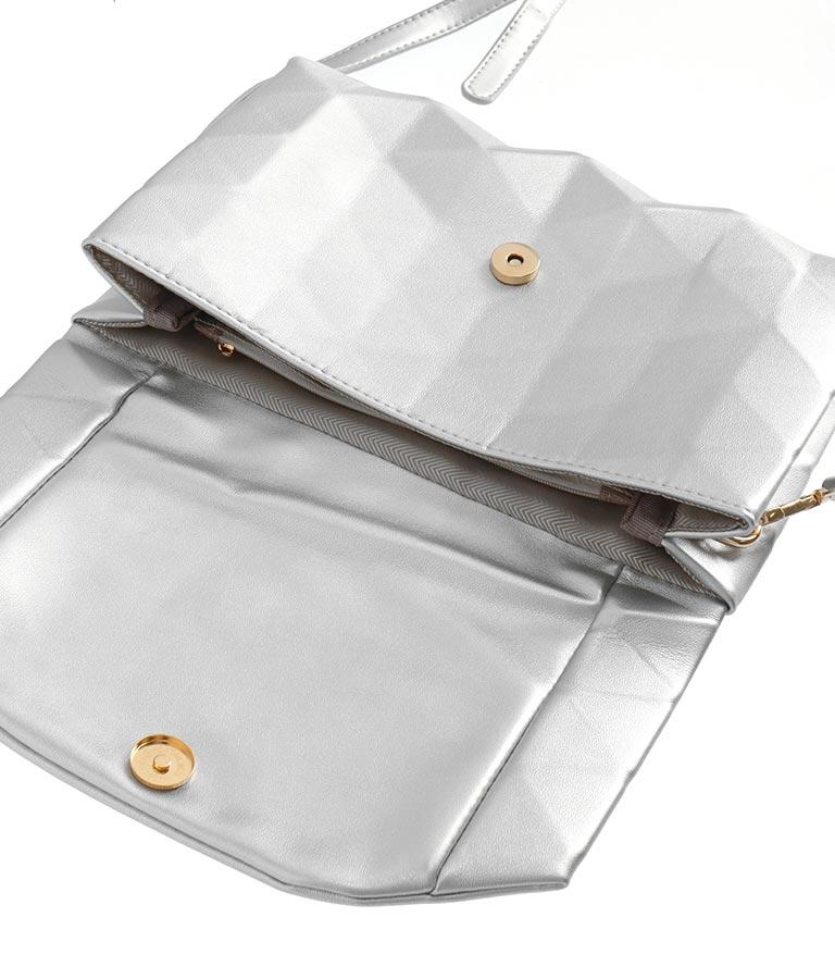 エンボスデザイン2WAYショルダーバッグ(バッグ・鞄・小物/クラッチバッグ・ショルダーバッグ) | Settimissimo