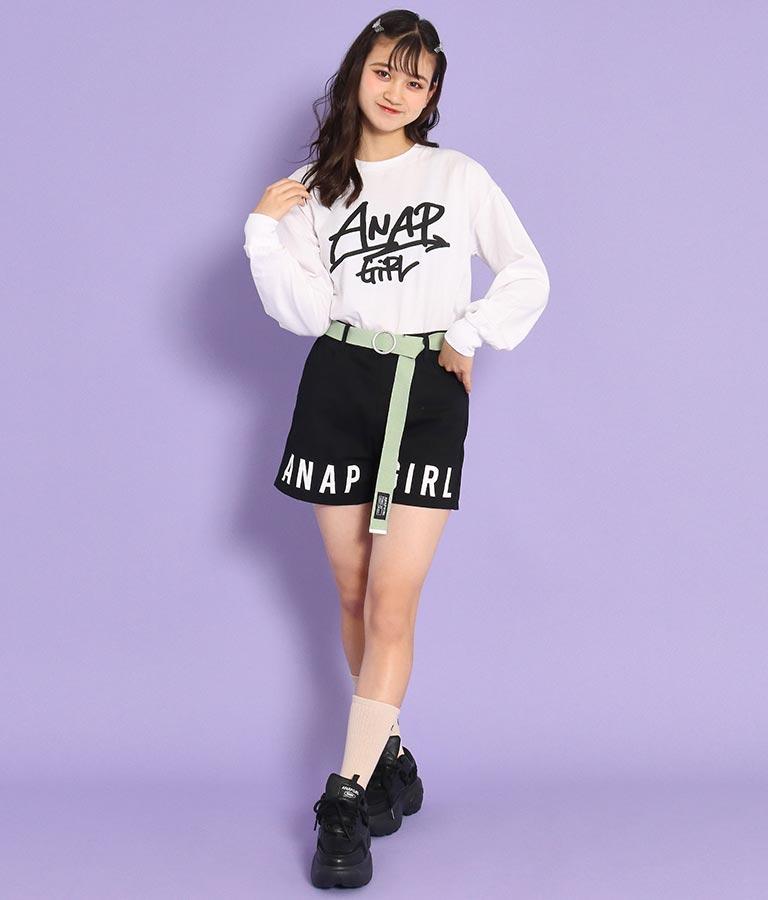 ベルト付裾ロゴショートパンツ(ボトムス・パンツ /ショートパンツ) | ANAP GiRL