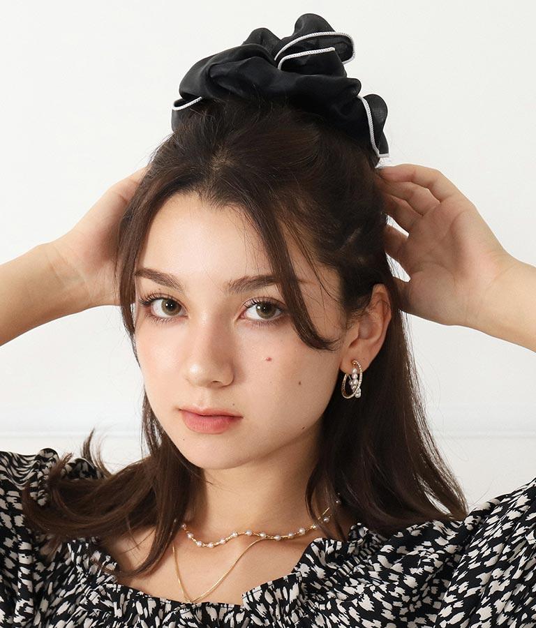 シアーボリューム配色シュシュ(アクセサリー/ヘアアクセサリー ・ヘアバンド ) | CHILLE