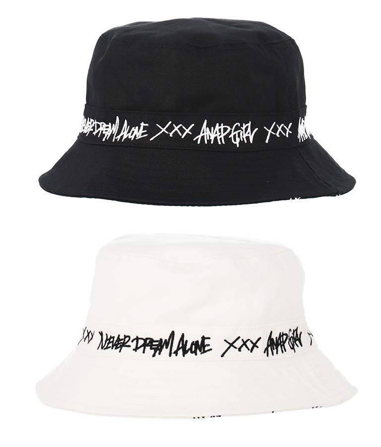 リバーシブルバケットハット(ファッション雑貨/ハット・キャップ・ニット帽 ・キャスケット・ベレー帽) | ANAP GiRL
