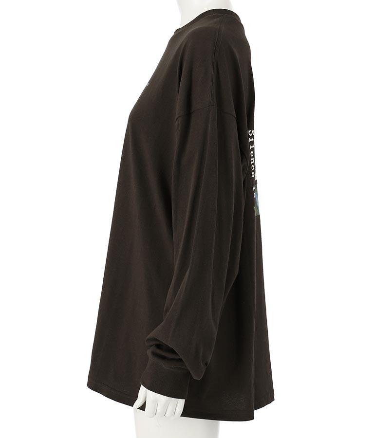 転写プリントロングTシャツ(トップス/Tシャツ・チュニック・ロングTシャツ) | anap mimpi