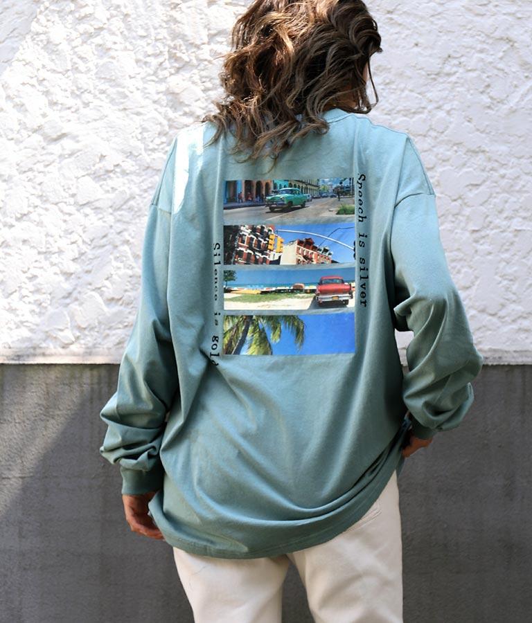 転写プリントロングTシャツ