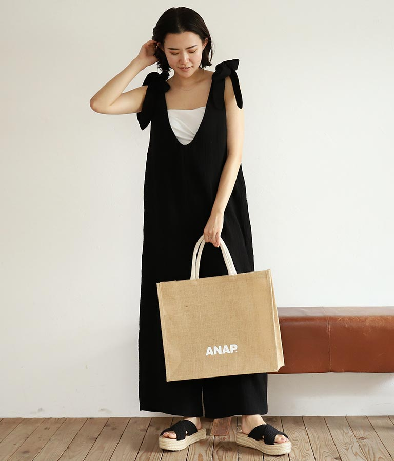 ANAPロゴジュートスクエアトートバッグ(バッグ・鞄・小物/トートバッグ) | ANAP HOME