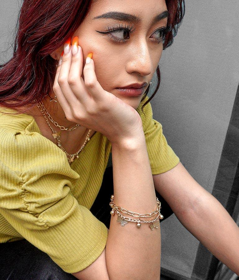 2WAYバタフライゴールドブレスレット&アンクレット(アクセサリー/ブレスレット・バングル)   anap Latina