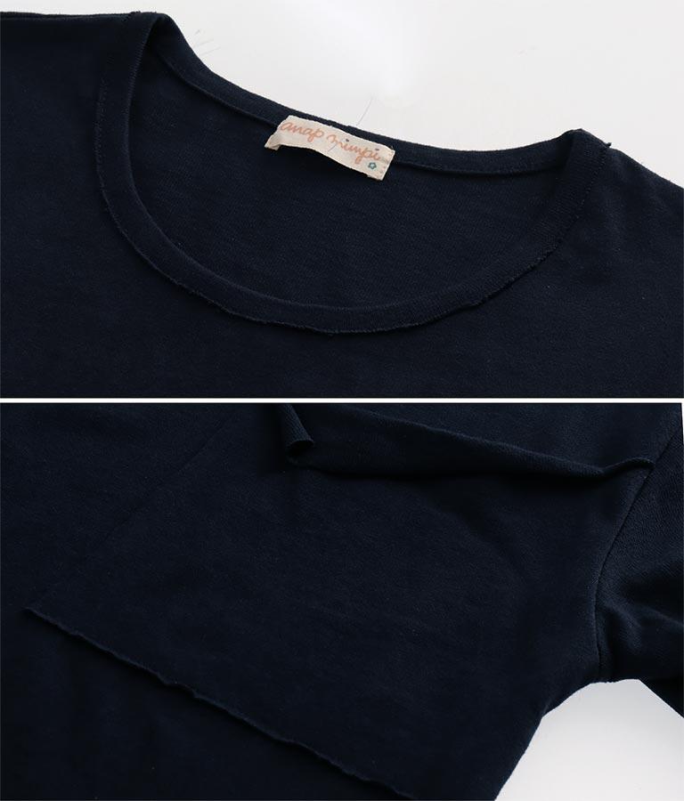 ビッグポケットシンプルコットンチュニック(トップス/Tシャツ・チュニック・カットソー ・ロングTシャツ) | anap mimpi