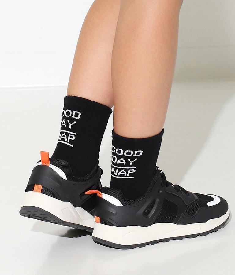 制菌バックロゴリブクルーソックス(ファッション雑貨/ソックス・靴下) | ANAP KIDS