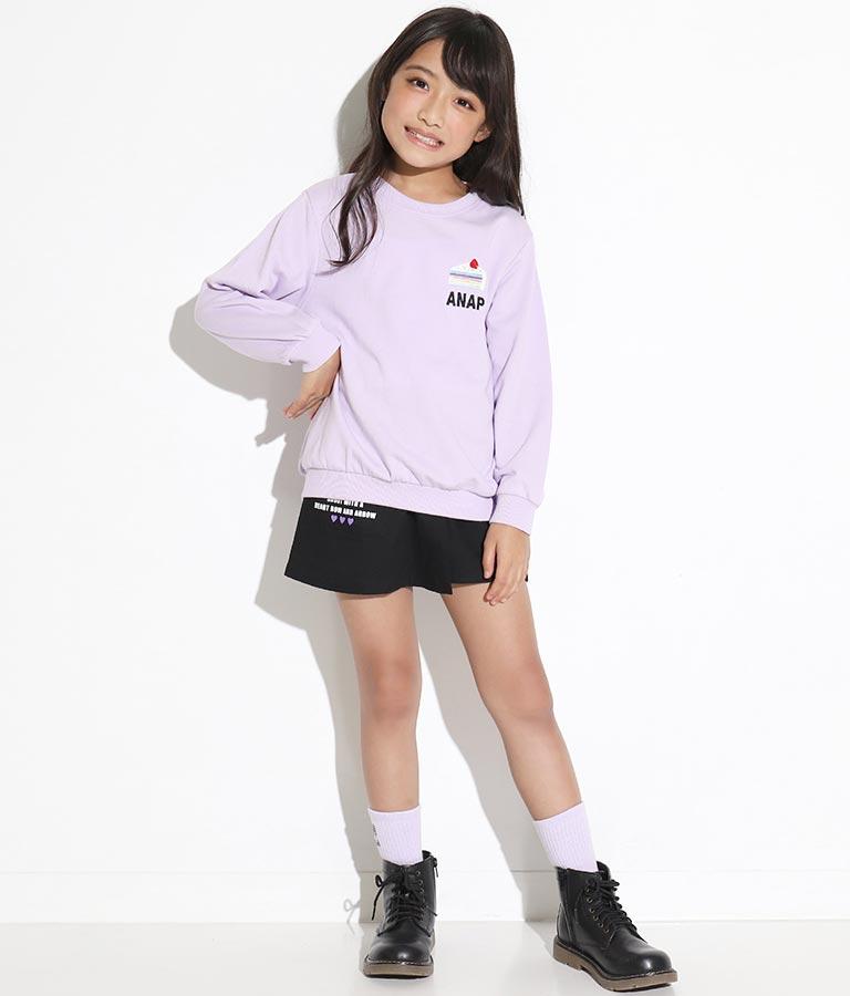 ワンポイント刺繍ミニ裏毛トレーナー(トップス/スウェット・トレーナー) | ANAP KIDS