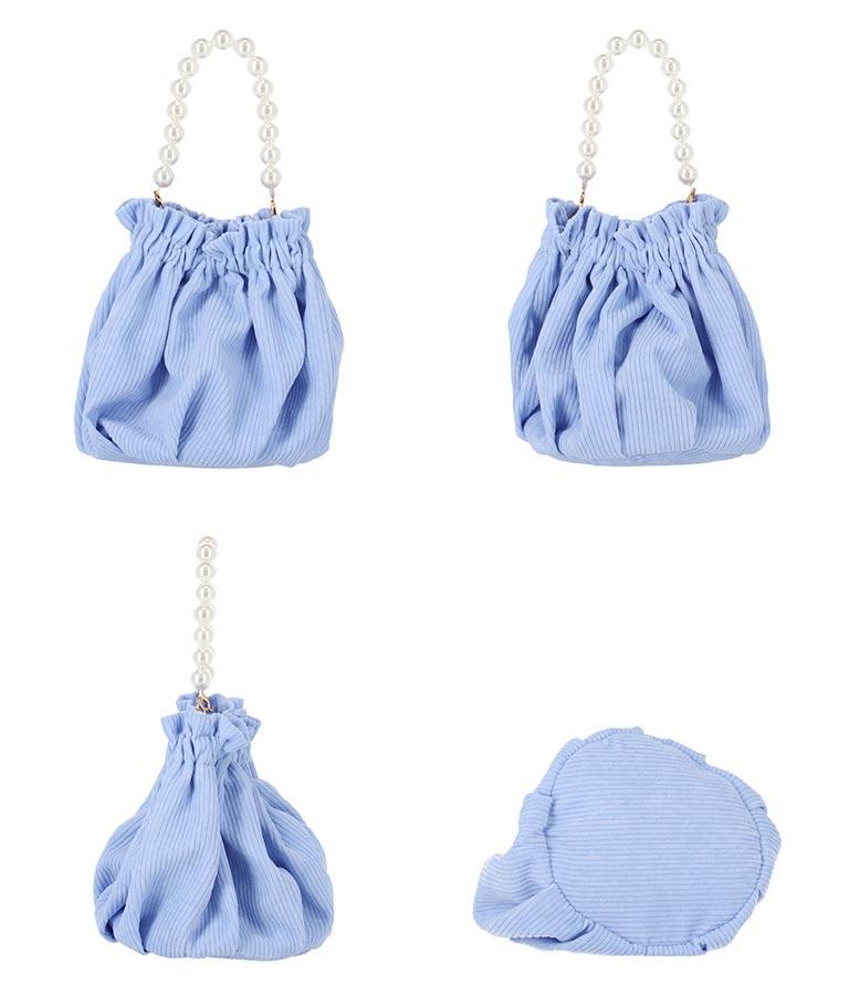 パールハンドル巾着バッグ(バッグ・鞄・小物/ハンドバッグ) | CHILLE