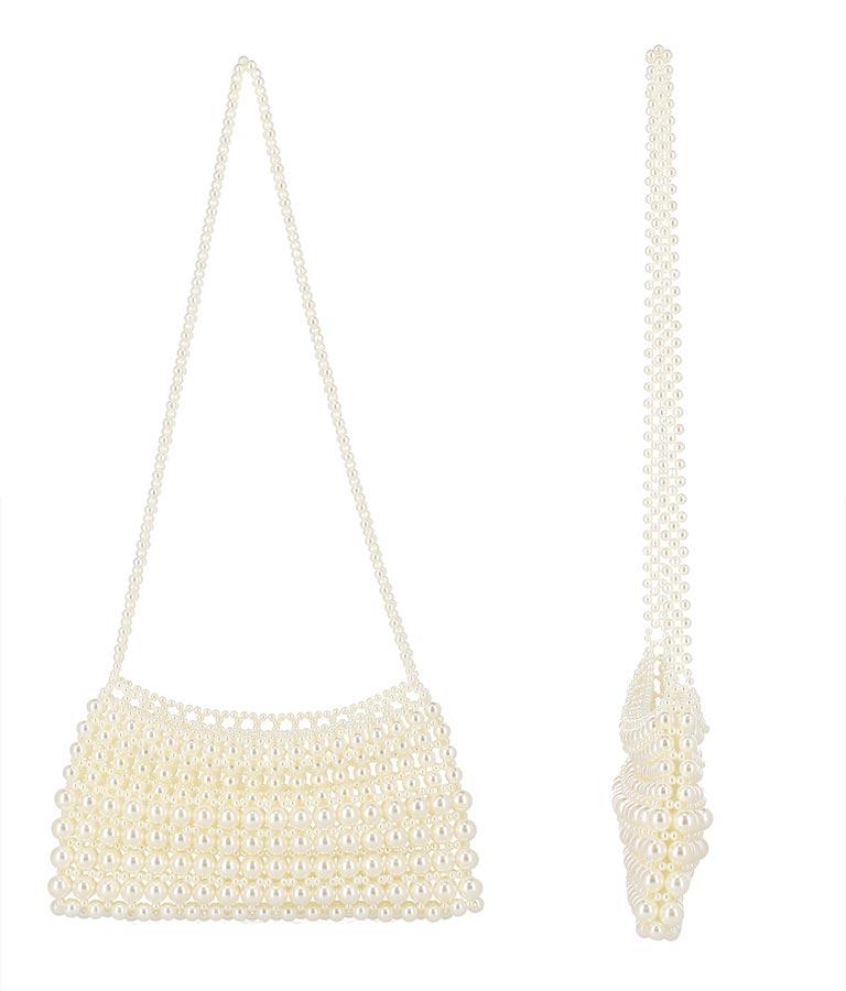 パールビジューハンドバッグ(バッグ・鞄・小物/ショルダーバッグ)   CHILLE