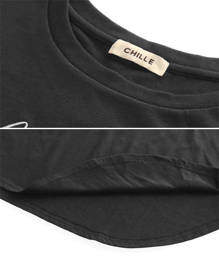 裾ラウンドロンT(トップス/カットソー ・ロングTシャツ)   CHILLE
