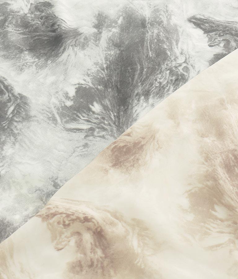 ニュアンスプリントスクエアネックワンピース(ワンピース・ドレス/ロングワンピ・マキシ丈ワンピース)   CHILLE